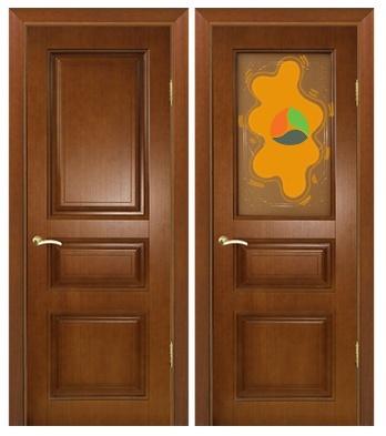 Два дверных полотна тёмные